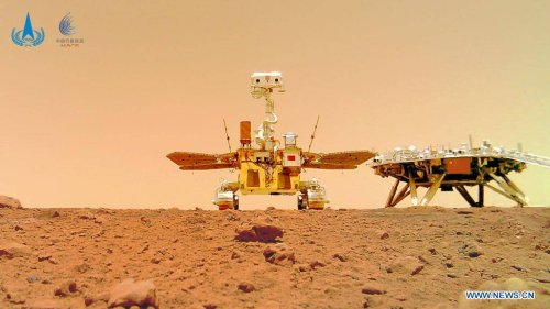 China may have snapped the greatest Mars selfie ever