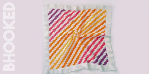 Baby Brights Corner to Corner Baby Blanket Free Pattern from B.Hooked