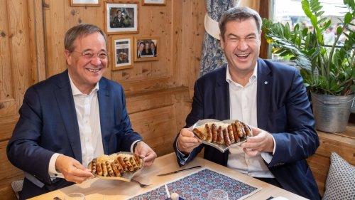 Laschet und Söder schließen Bratwurst-Pakt