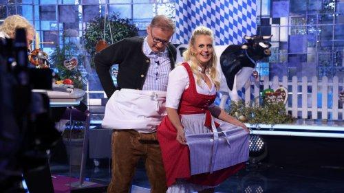 Hosen-Panne bei  Günther Jauch