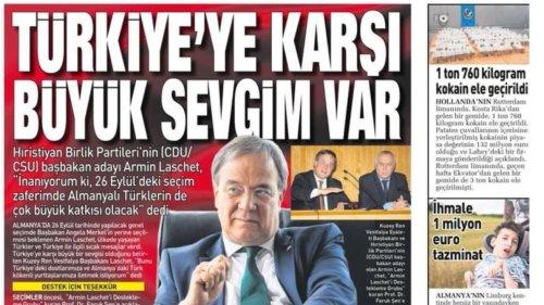 Druckte Türkei-Zeitung Fake-Interview mit Laschet?
