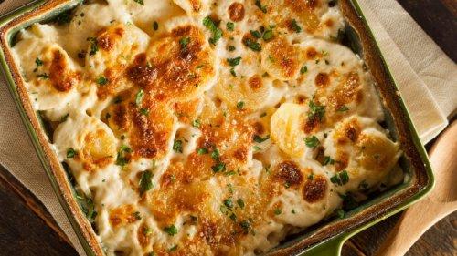 Kroatischer Kartoffelauflauf mit Feta und Knoblauch
