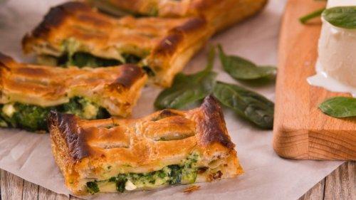 Knuspriger Ofengenuss: Brokkoli-Spinatstrudel mit Ricotta