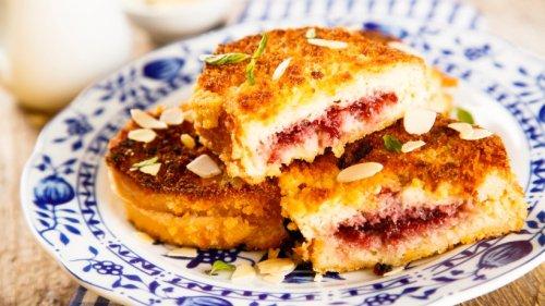 Gefüllte French Toasts mit Erdbeeren und Frischkäse