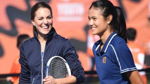 Herzogin Kate spielt im Doppel mit US-Open-Siegerin Emma Raducanu