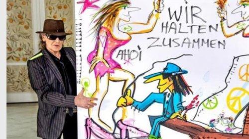 Udo Lindenberg erzielt mit Kunstwerk über 200.000 Euro für Flutopfer