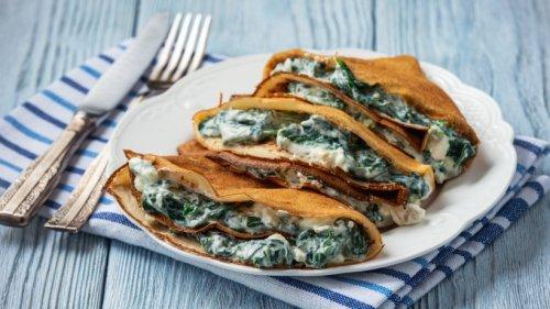 Gorgonzola-Spinat-Crêpes aus Buchweizenmehl – so verführerisch!