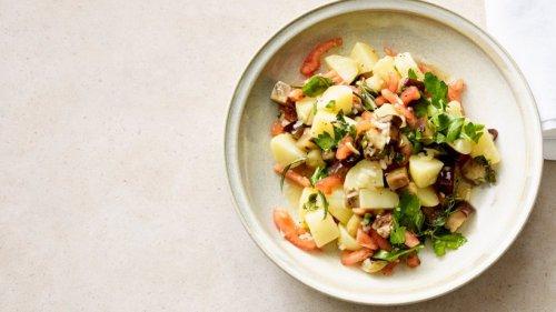 Très bien: Französischer Kartoffelsalat mit Aubergine