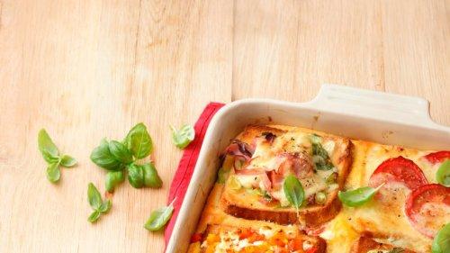 Sandwich-Lasagne mit Käse und Schinken: Köstlicher Genuss