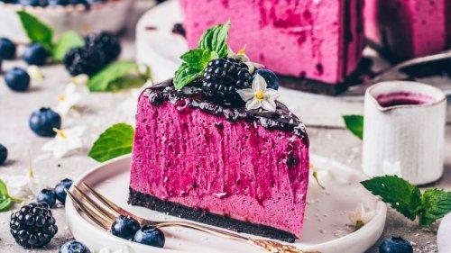 Ganz ohne Backen: Veganer Blaubeer-Käsekuchen