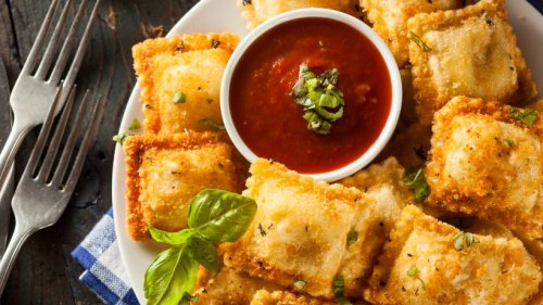 Unglaublich lecker: Frittierte Ravioli mit leckeren Kräutern