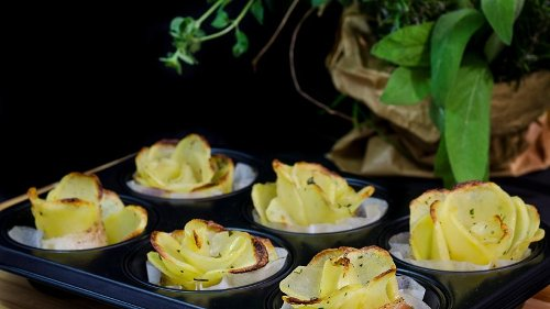 Hübsch anzusehen und dazu noch lecker: Rosenkartoffeln