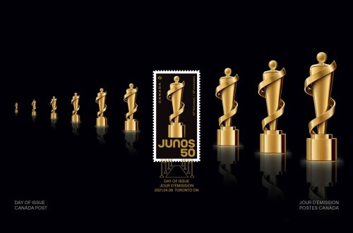 Canada Issues Postage Stamp to Salute 50 Years of Juno Awards
