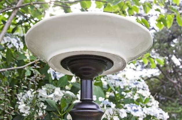 Recycled Lamp DIY Bird Bath