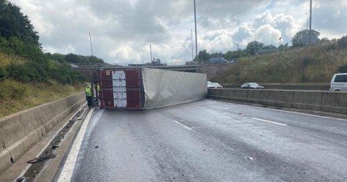M5 carriageway 'to remain shut' overnight after rush hour crash