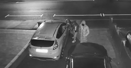 Watch masked thieves steal Ford Fiesta in smash and grab at city home