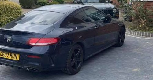 Brazen thieves steal Mercedes off city drive in seconds
