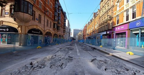 Corporation Street 'like Beirut' says jeweller as tram track ripped up