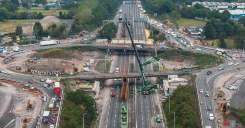 Long queues on M6 as Junction 10 closes for bridge work