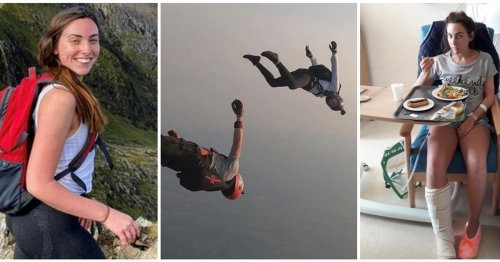 Adrenaline junkie survived parachute failure and hitting ground at 50mph