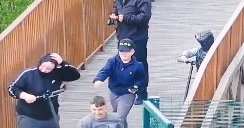Police appeal after rocks thrown at shoppers and security at designer outlet