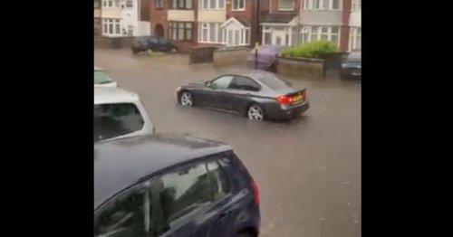 Travel chaos as heavy rain causes flooding in Birmingham