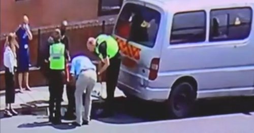 Watch as dog rescued from van in boiling weather in Birmingham