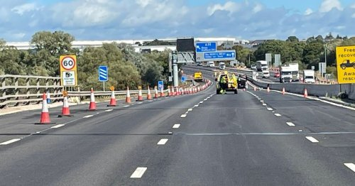 M6 northbound will be closed through morning rush hour