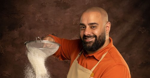 Meet Bake Off contestant George who loves giving his bake a classy touch