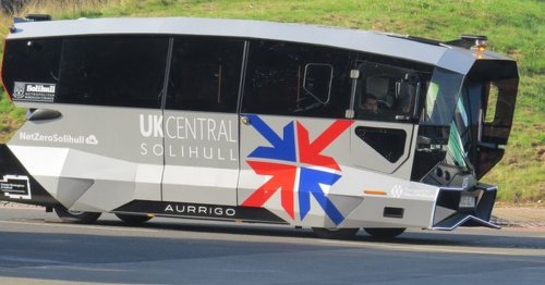 Coventry-made driverless bus starts real world trials in Solihull