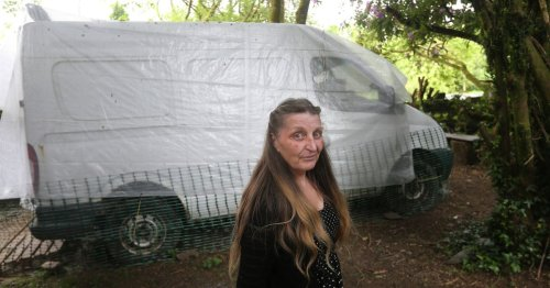 Woman with terminal cancer living in van after being evicted