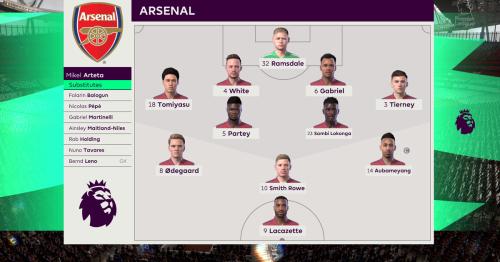 We simulated Arsenal vs Aston Villa on FIFA 22 to get a score prediction