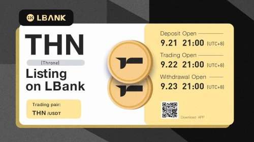LBank Exchange Will List THN (Throne) on September 22, 2021 – Press release Bitcoin News