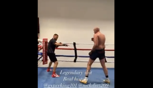 Video | Nick Diaz training with Tyson Fury ahead of potential UFC comeback | BJPenn.com