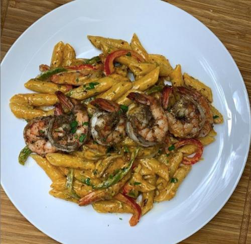Recipe Remix: Jerk Shrimp Rasta Pasta