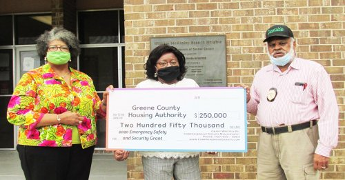 The Housing Authority of Greene County receives $250,000 HUD grant for surveillance cameras and Carbon Monoxide detectors