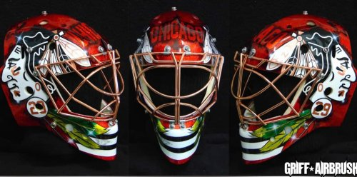 """Marc-André Fleury's Mask Designer Had Three Designs Denied By The Blackhawks Over """"Racial Tensions"""""""