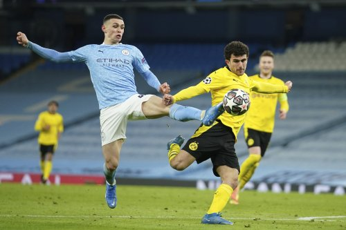 Manchester City Tops Borussia Dortmund 2-1 in 1st Leg of UCL Quarterfinals