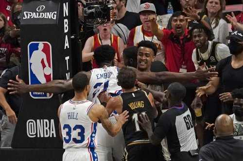 76ers' Joel Embiid Fined $35K; Hawks' Bruno Fernando Suspended for Game 7
