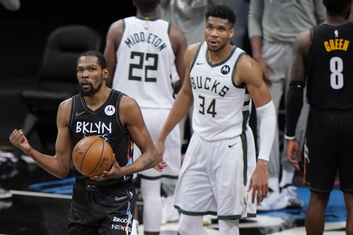 Giannis: Kevin Durant 'Best Player in the World,' Want to Guard Nets Star in Game 6