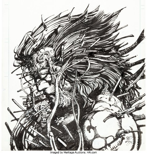 Barry Windsor-Smith Conan & Weapon X Original Cover Art At Auction