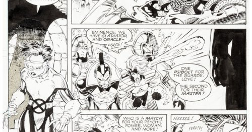 Jim Lee's X-Men, WildCATS and Punisher Original Artwork at Auction