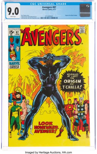 When Marvel Published Black Panther's Origin – Avengers #87 At Auction