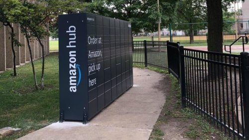 Amazon Installs Huge Lockers On A Chicago Park's Sidewalk, Confusing And Frustrating Neighbors