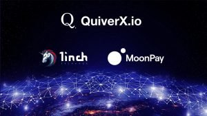 QuiverX Capital Has Launched its Wallet with 1inch.exchange Integration and MoonPay On-Ramp