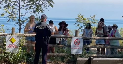 Toronto Police are now issuing steep fines to trespassers at the Scarborough Bluffs