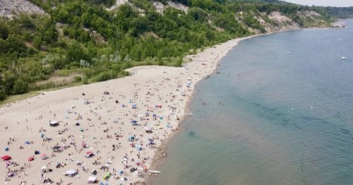 Bluffer's Park is home to the only beach along the Scarborough Bluffs