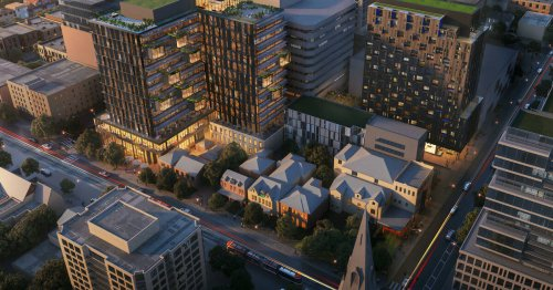 Shiny new building complex to replace dilapidated rowhouses in downtown Toronto