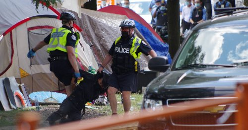People condemn Toronto Police actions as more encampment protest footage emerges