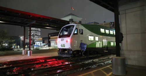 The first GO Train from London to Toronto started running today